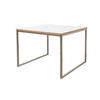Square White Top & Steel Como Lamp Table ( 60 Cm X 60 Cm )