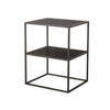 Grey Steel & Black Wooden 2 Tier 'illusion' Lamp Table