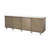 Aged Silver Ridged Front Sideboard With Mirrored Top (220cm X50cm X 75cm H)