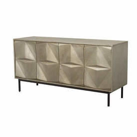 Gold Textured Diamond Front 4 Door Sideboard