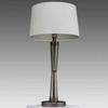 Matt Black Nickel & Smoked Glass Tapered Column Nelle Table Lamp With Cream Shade