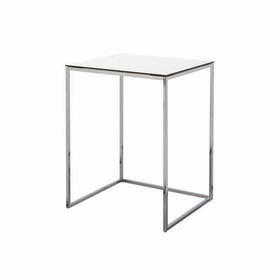 V Small White & Chrome ''Kyoto'' Lamp Table