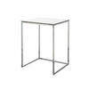 V. Sml White & Chrome Kyoto Lamp Table (53 Cm H X 41 Cm X 36 Cm) (Also Available In 3 Other Sizes)