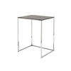 Sml Grey & Chrome 'kyoto' Lamp Table (55 Cm H X 44 Cm X 37 Cm) (Also Available In 3 Other Sizes)