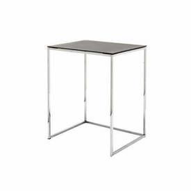 V Small Grey & Chrome ''Kyoto'' Lamp Table