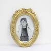 21cm X 15cm Oval Gilded Photo Frame  (Y)