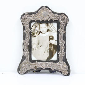 20cm  x  16cm Silver Shaped Photo Frame