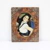 19cm X 15cm Brown Leather And Copper Decor Photo Frame  (Y)