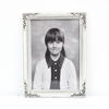 19cm X 14cm Silver Plated Shaped Top Photo Frame  (Y)