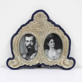 15cm X 18cm Silver Embossed Double Photo Frame  (Y)