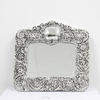 23cm X 24cm Silver Photo Frame With Rose Pattern  (Y)