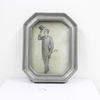 23cm X 18cm Pewter Octagonal Photo Frame  (Y)
