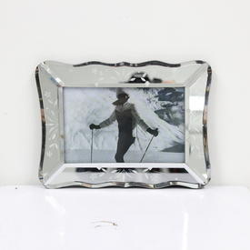 15cm  x  20cm Small Glass Decorative Leaf Pattern Photo Frame