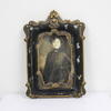 25cm X 17cm Black & Gilt Ornate Shaped Portrait Photo Frame  (Y)
