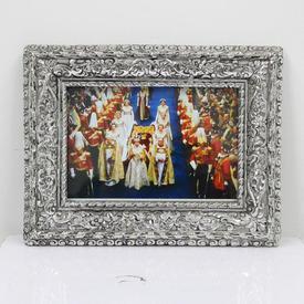 20cm X 25cm Silver Ornate Photo Frame  (Y)