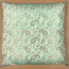 """Floor Cushion 24"""" x 24"""" Mint Paisley Organza"""