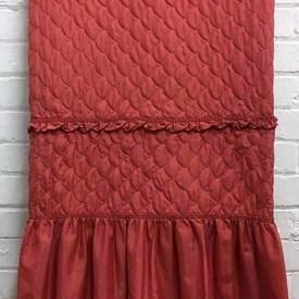 Fitted Bed Cover (D - 4'3) Coral Scallop Silky Quilted / Valance