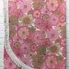 Bed Cover (S) Pink St Michael Floral Print Weave / Fringe
