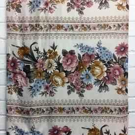Bed Cover (S) Dusky Floral Garland Stripe Sateen