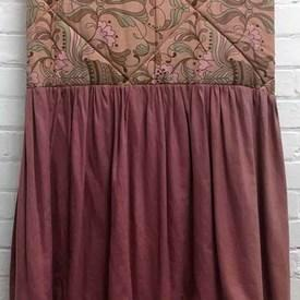 Fitted Bed Cover (S) Salmon Floral Urn Print Cotton