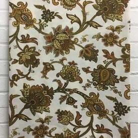 Bed Cover (D) Mustard St Michael Paisley Crewel Print Weave