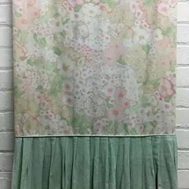 Bed Cover (Q) Apricot / Mint Designers Guild Mottled Floral