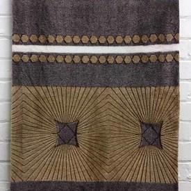 Bed Cover (D) Tan / Lilac Geo Print Fleece
