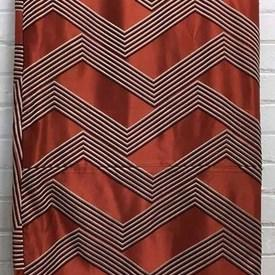 Bed Cover (D) Rust Large Graphic Chevron Silk