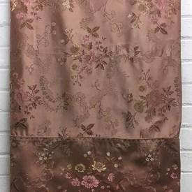 Bed Cover (D) Salmon Floral Brocade