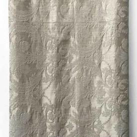 Bed Cover (K) Ivory Leaf Tex. Silky Damask