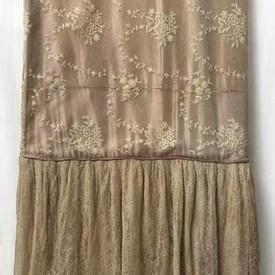 Fitted Bed Cover (K) Rose Shredded Silk Fine Floral Lace Overlay / Valance