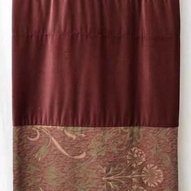 Bed Cover (K) Dusky Floral Jacquard / Velvet Panels