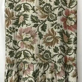 Fitted Bed Cover (K) Sea Floral Jacquard / Valance