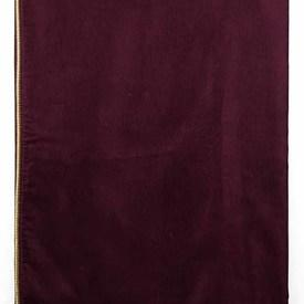 "Table Cover 4'4"" x 4'4"" Burgundy Silky Repp / Metallic Piped"