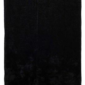 "Table Cover 6'1"" x 6'1"" Black Silky Chenille"
