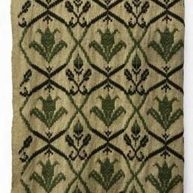 "Throw 6'4"" x 2'9"" Khaki Geo Leaf Wool"