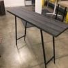100 X 30 Cm Dark Oak Veneer Top On Black Metal Trestle Style Legs Console Table