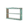 Distressed Green Painted 3 Tier Wall Mounted Shelf