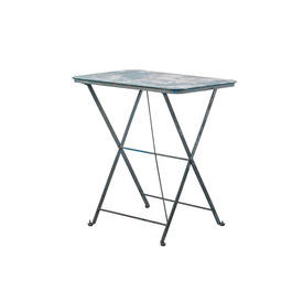 Rect Blue Painted Metal Folding Table