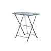 Rect. Blue Painted Metal Folding Table ( H: 72cm L: 68cm W: 48cm )