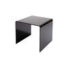 Large Black Glass Rialto Lamp Table (45 Cm H X 55 Cm X 50 Cm) (Also Available In 2 Other Sizes)