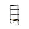 Tall Black Wood & Gold 'highline' 4 Tier Shelving Unit