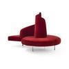 Red Velvet Spiral 'tatlin' Sofa (210cm X 170cm X 134cm H)