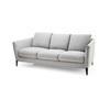 Light Grey Fabric 'malacorte' 3 Seater Sofa (190cm X 100cm X 67cm H)