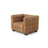 Tan Suede Cubic Hoffman Armchair (90cm X 72cm X 67cm H)