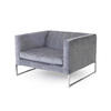 Grey Fabric 'tight' Armchair (100cm X 90cm X 66cm H)