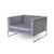 Grey Fabric 'tight' Armchair (100cm X 90cm X 66cm H)