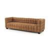 Tan Suede Cubic Hoffman 3 Seater Sofa (220cm X 72cm X 67cm H)