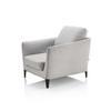 "Light Grey Fabric ""Malacorte"" Armchair"