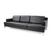Black Leather Ds739 3 Seater Sofa On Corner Leg (242cm X 90cm X 71cm H)